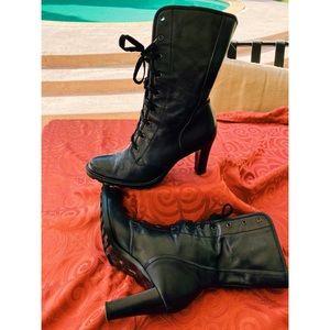 Calvin Klein Women's Black Leather Boots
